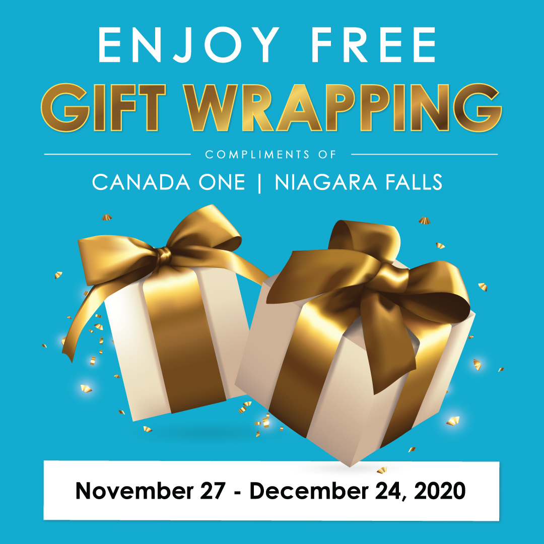 Free Gift Wrapping Services at Canada One Outlets